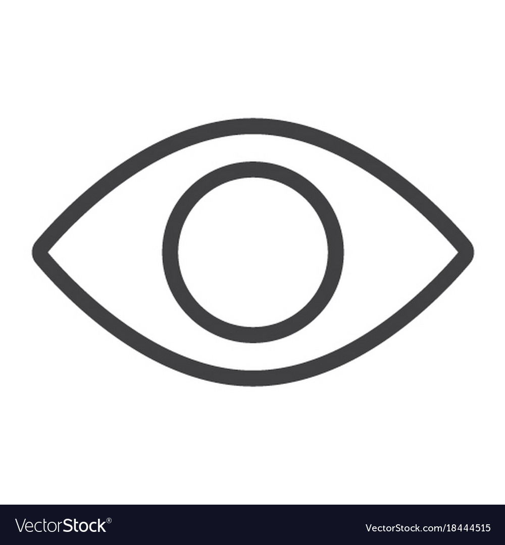 Eye line icon web and mobile lens sign vector image