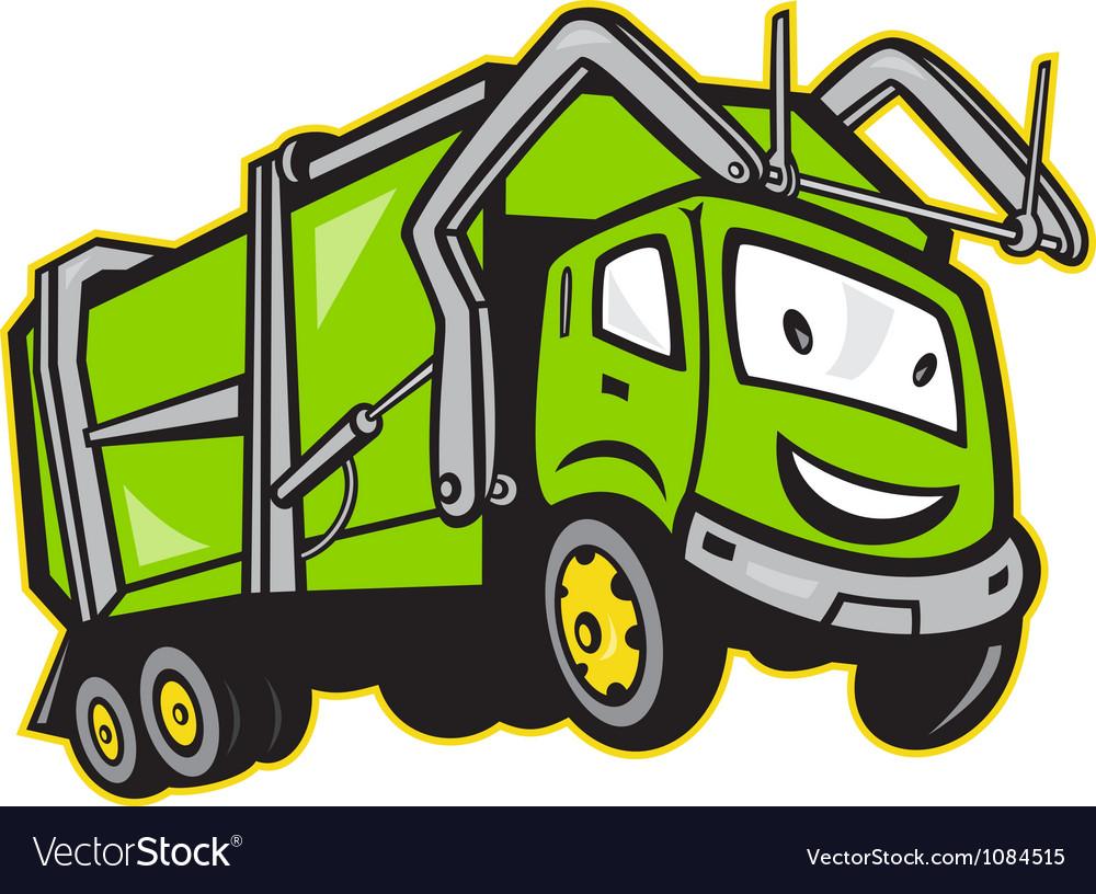 Garbage Rubbish Truck Cartoon