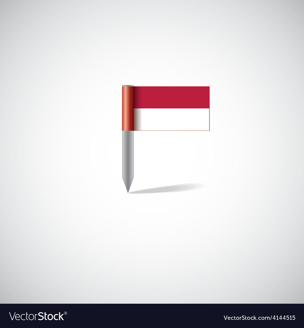 Indonesia flag pin