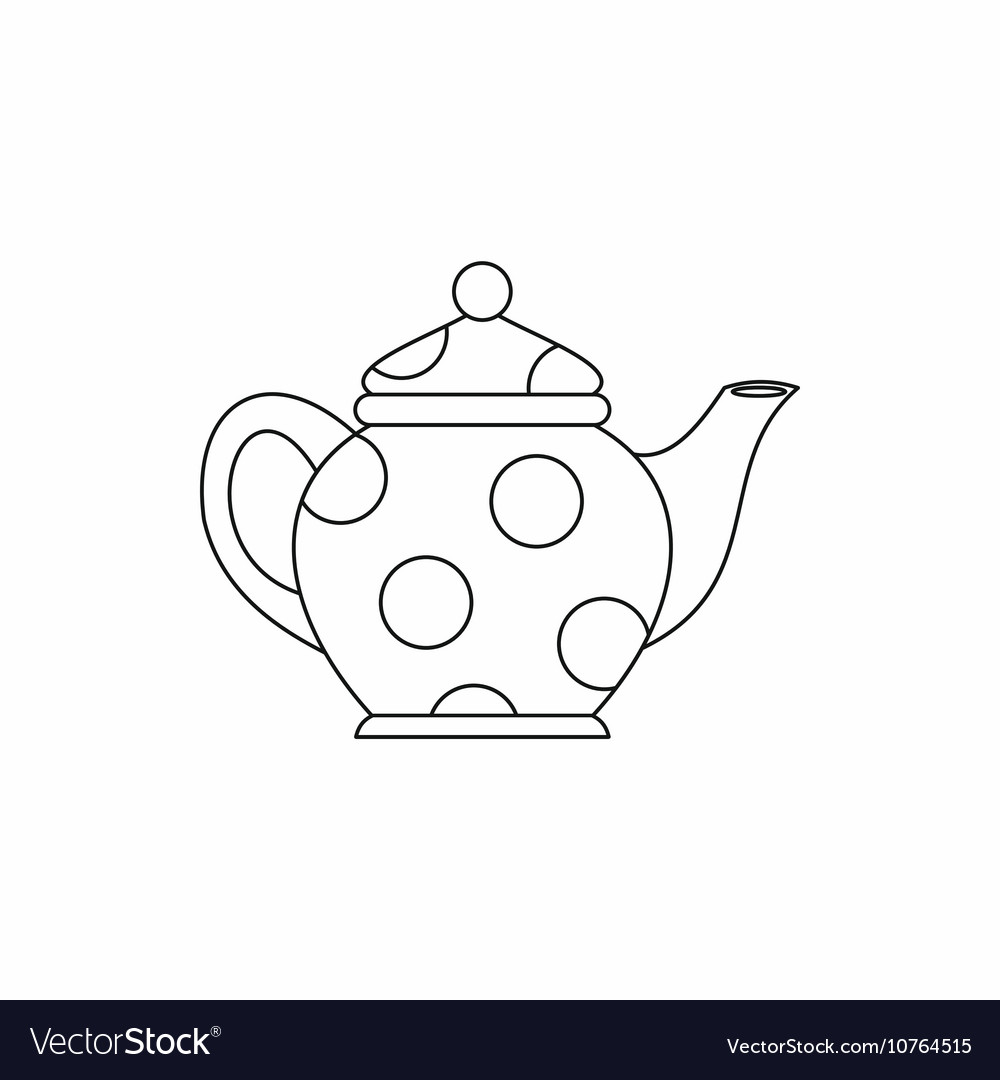 Kettle icon outline style