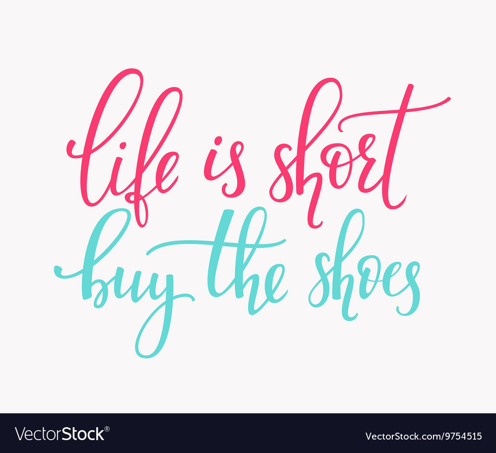 short buy shoes Royalty Free Vector Image