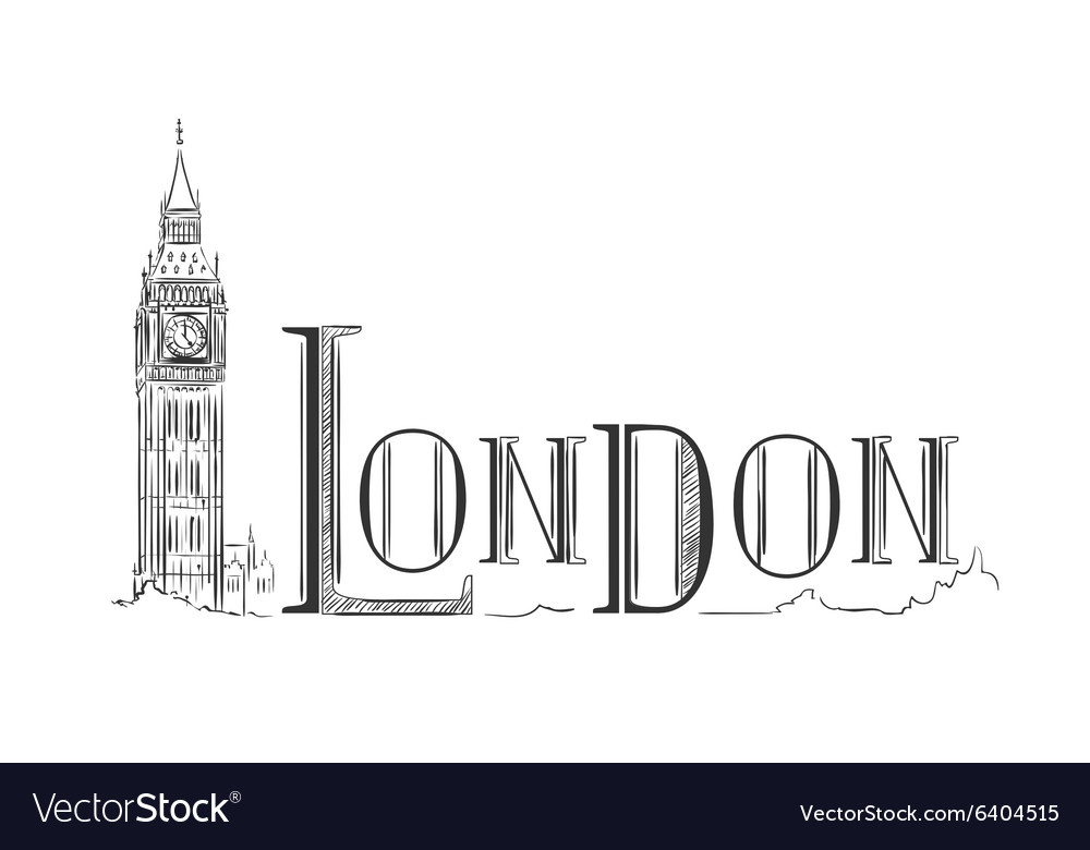 London lettering with the Big Ben