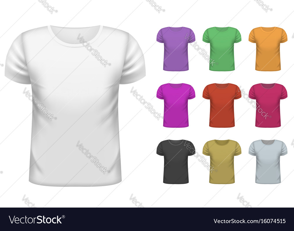0bf2e442 Mens short t-shirt set Royalty Free Vector Image
