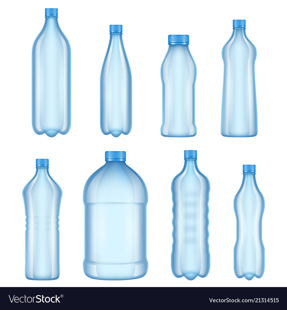 Plastic bottles for water realistic