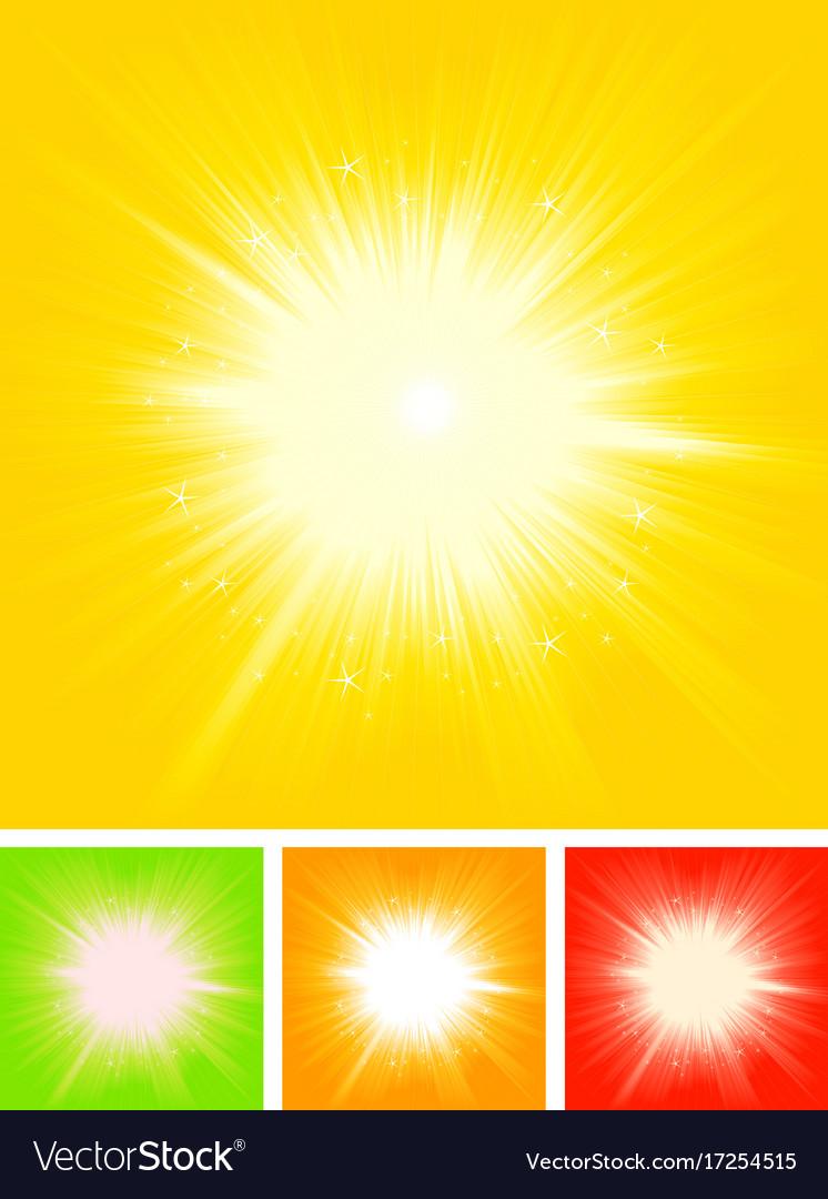 Summer sun starburst vector image
