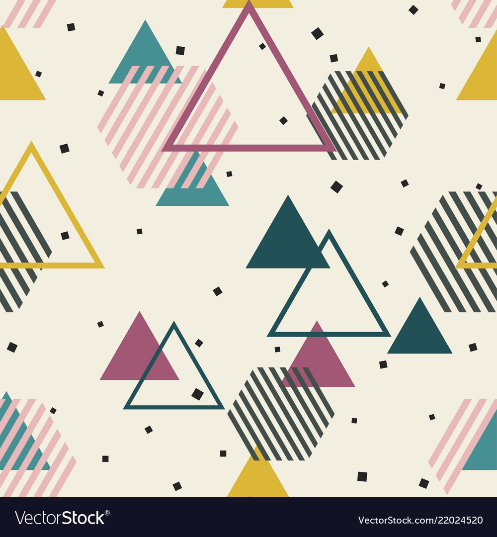 Abstract geometric pattern memphis seamless