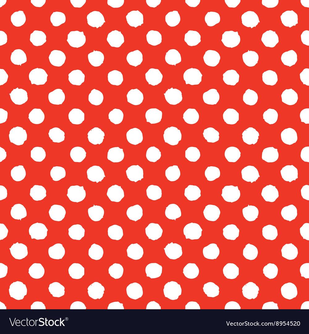 Abstract hand drawn polka dots seamless