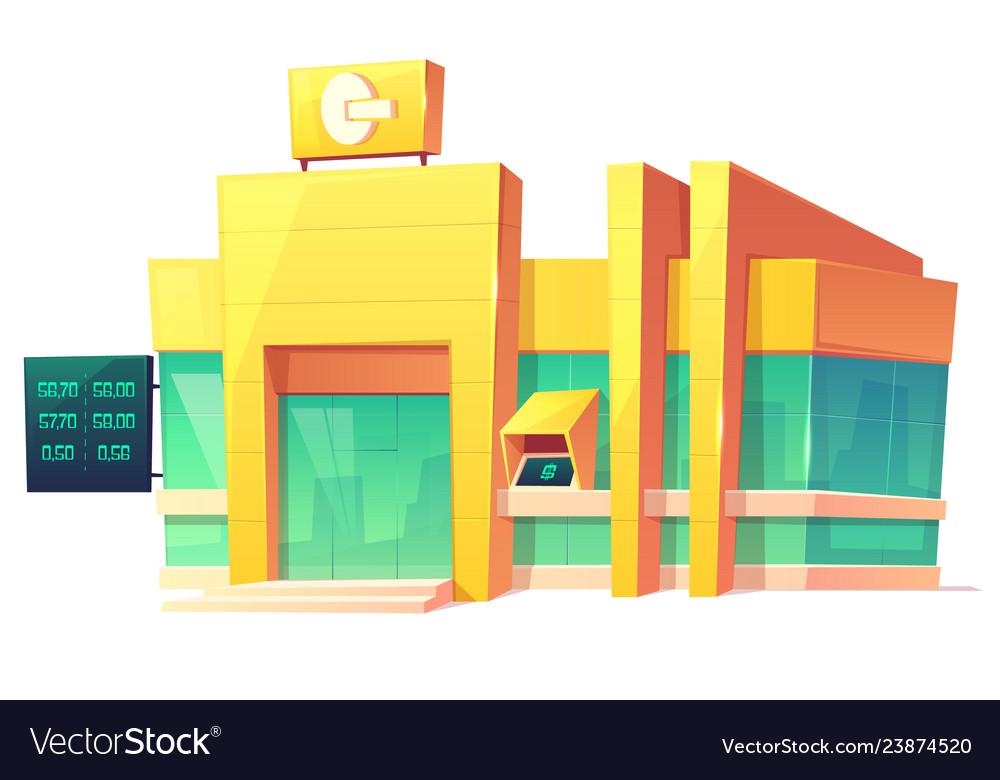 Bank office modern building cartoon