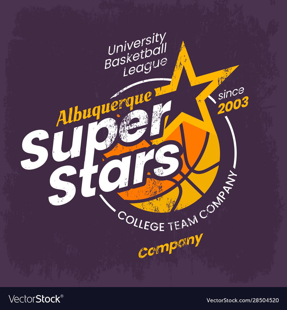 Basketball logo for clothing or college varsity