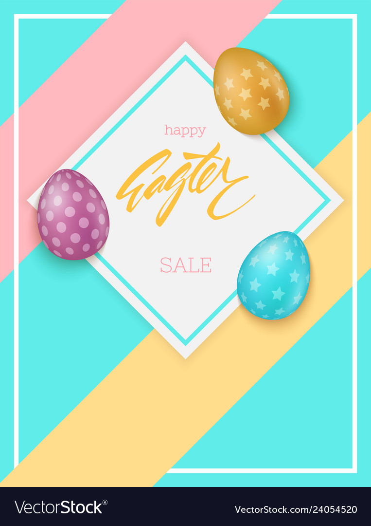 Colorful easter eggs composition easter sale