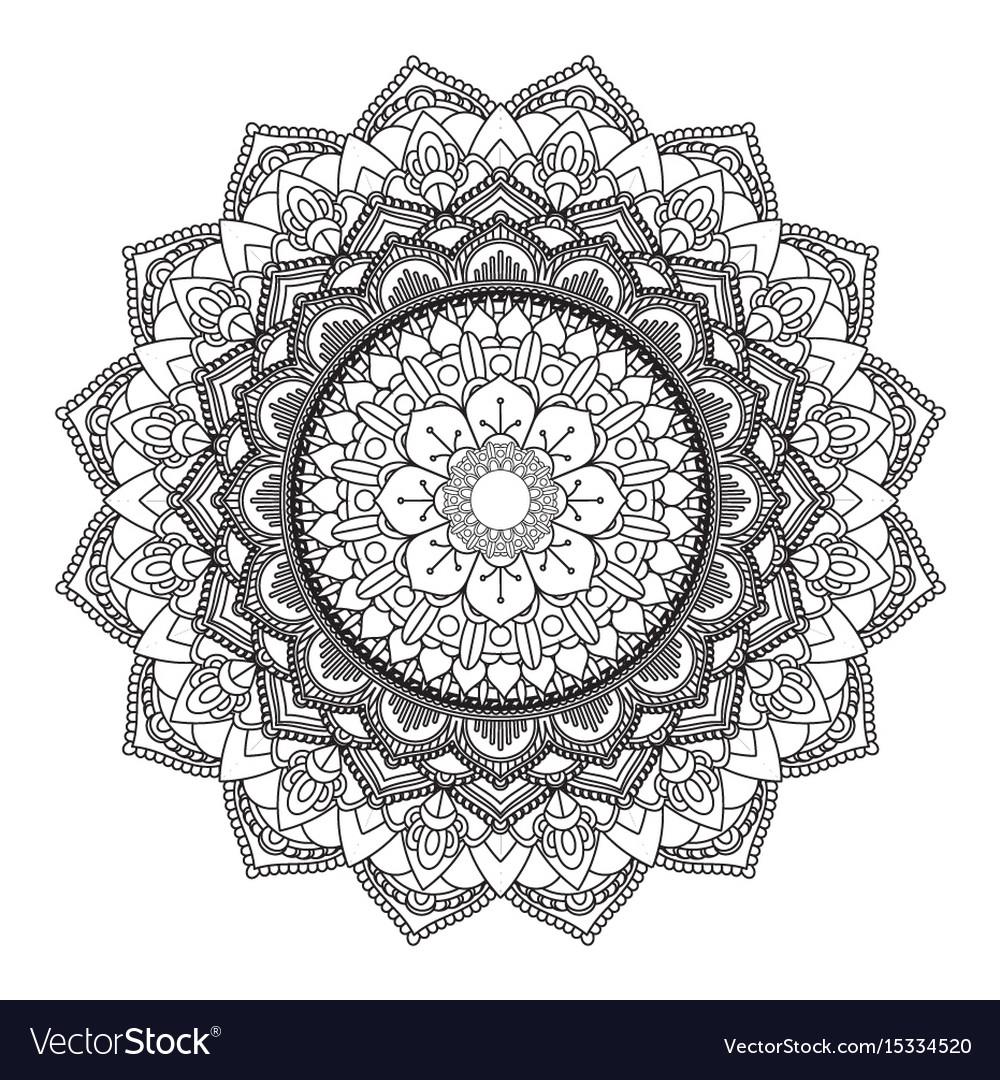 Decorative mandala design 3005 vector image