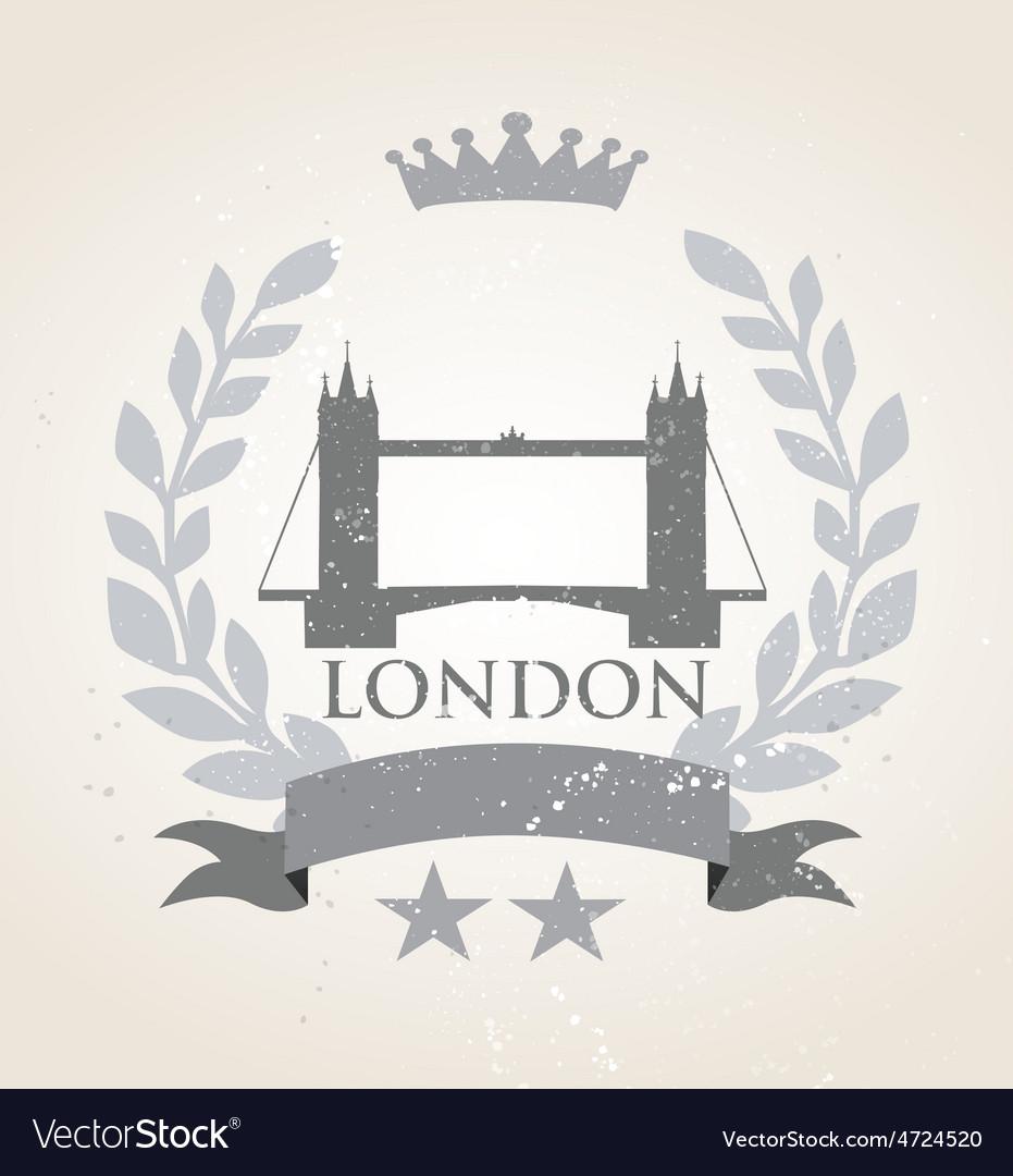 Grunge London icon laurel weath