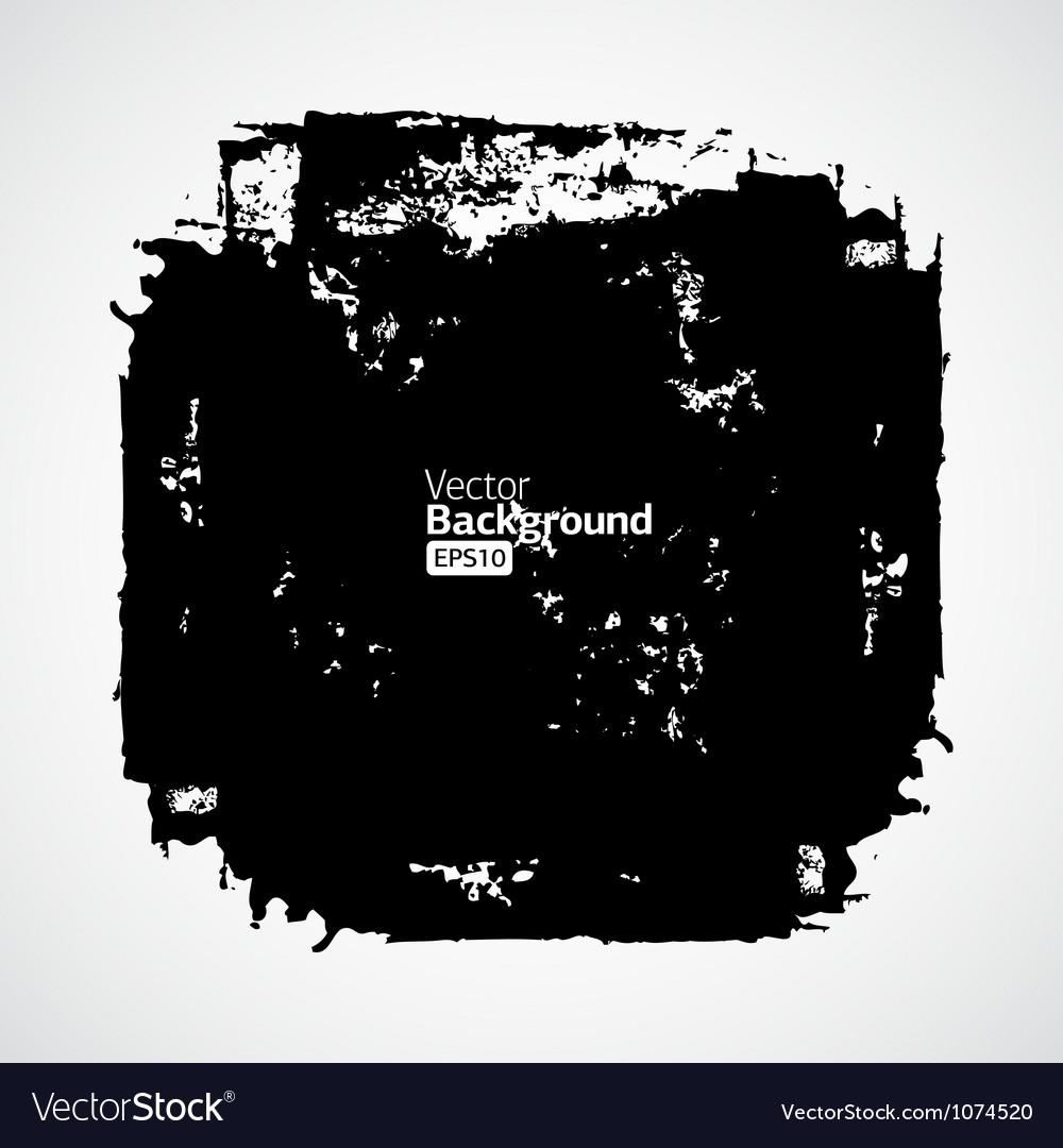 Ink splat banner with grunge effect in black