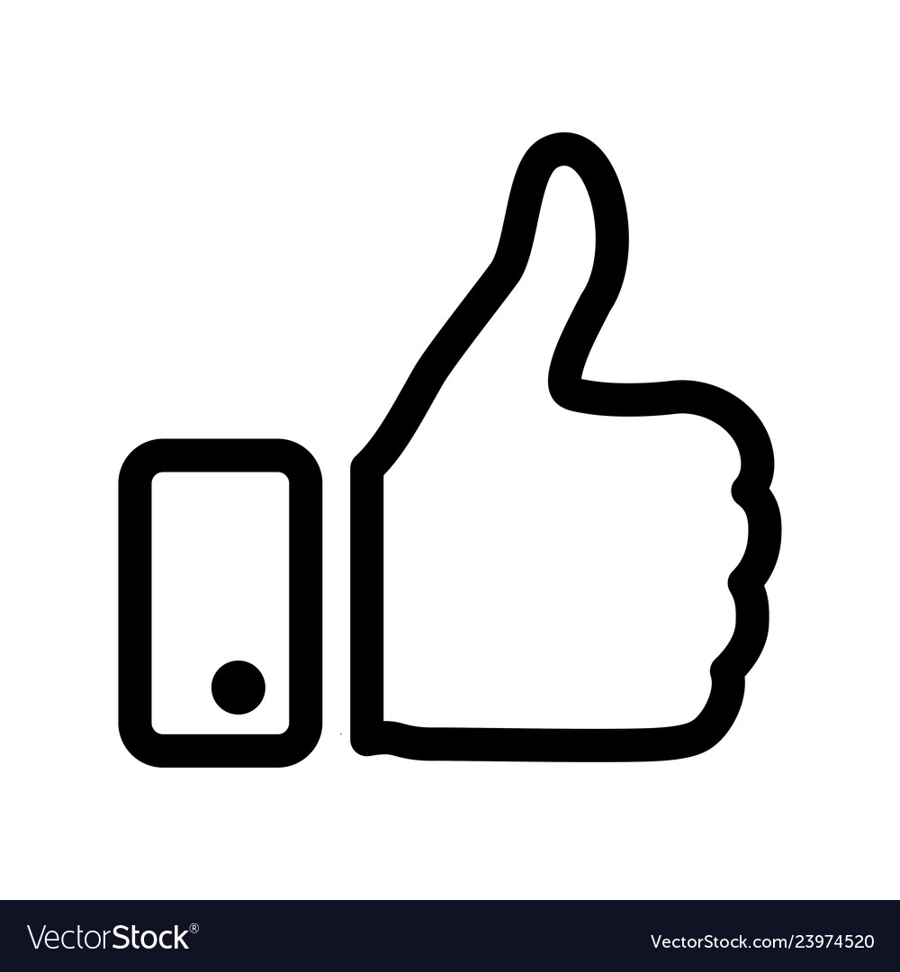 Like icon thumbs up symbol and Royalty Free Vector ImageThumbs Up Symbol
