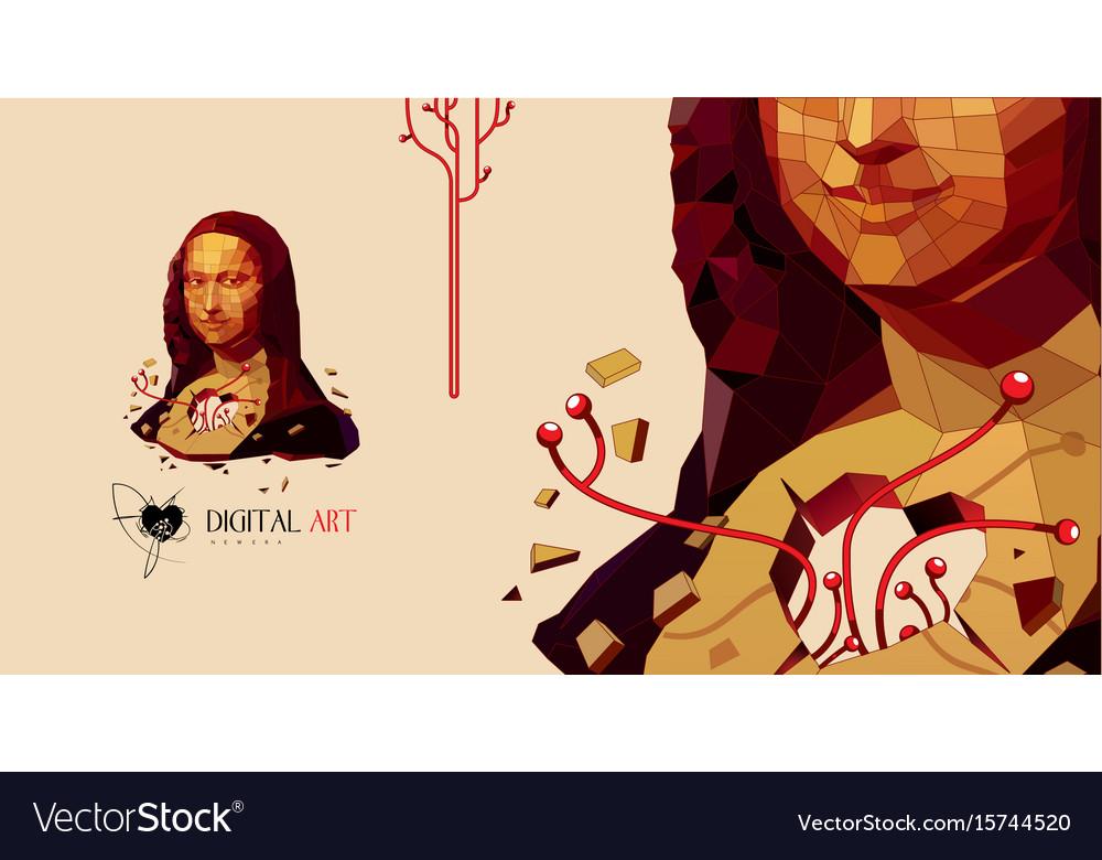 Mona lisa art vector image
