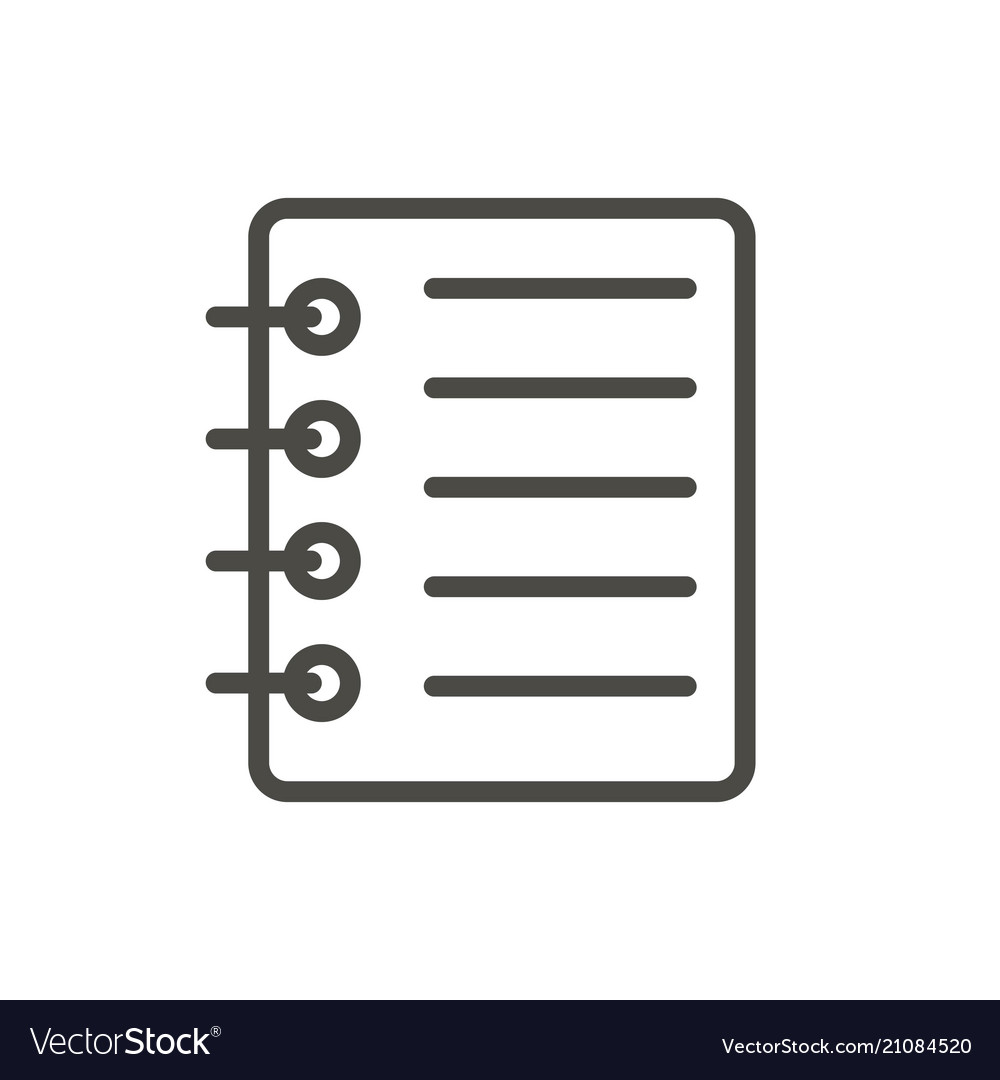 Notepad icon line business note symbol