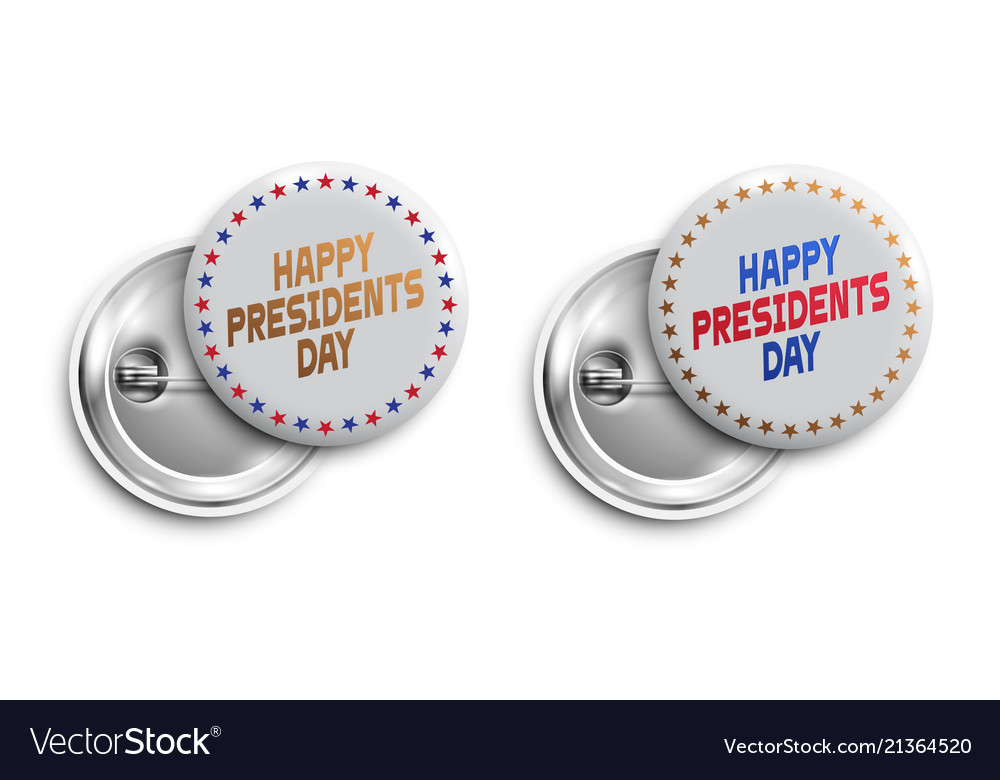 Set of happy presidents day buttonsbadgesbanners