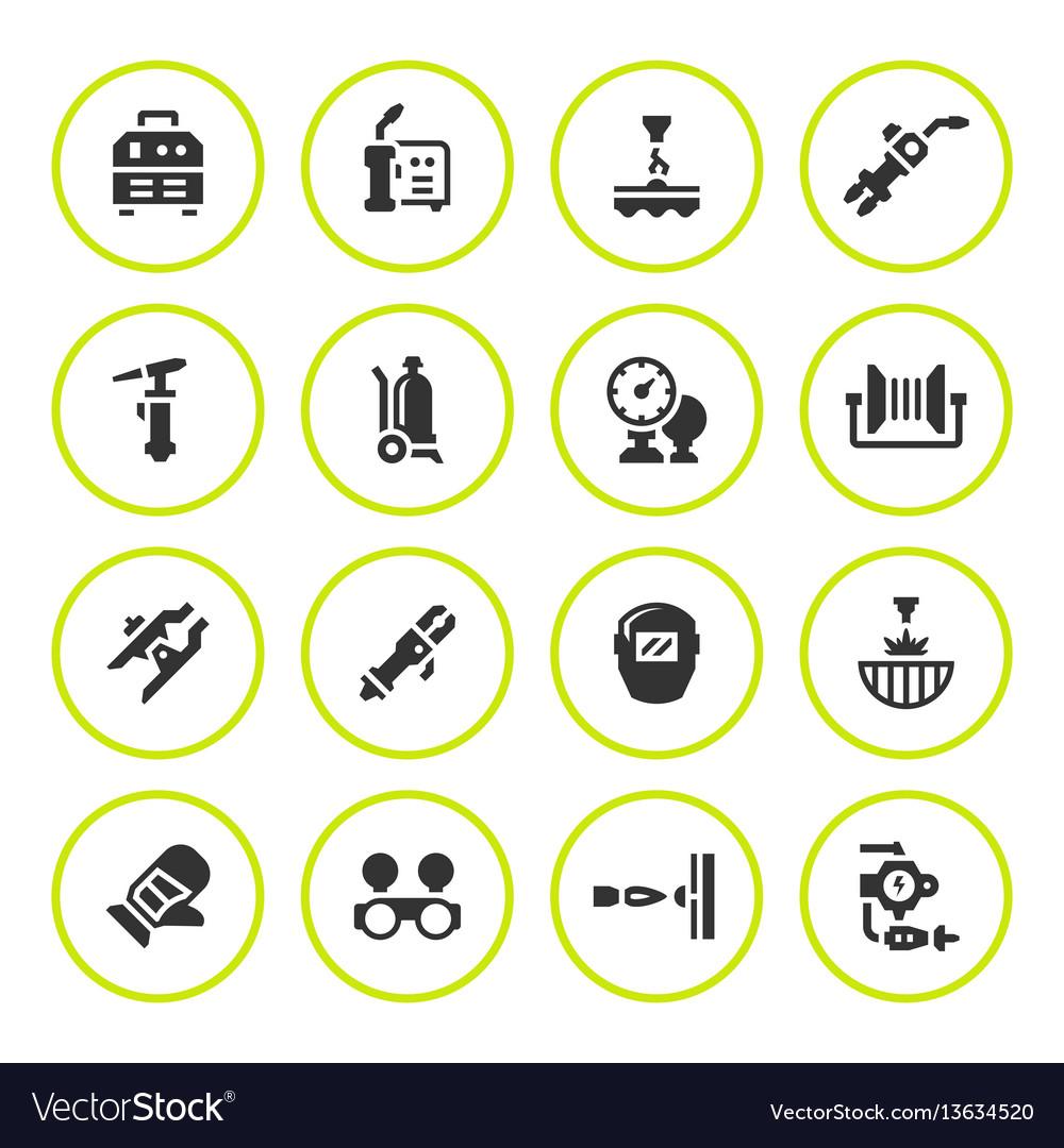 Set round icons of welding