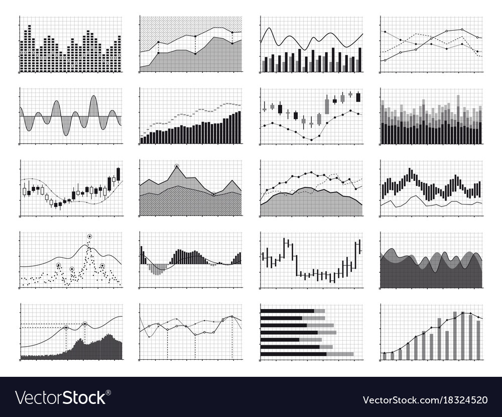 Stock Analysis Graphics Or Business Data Financial