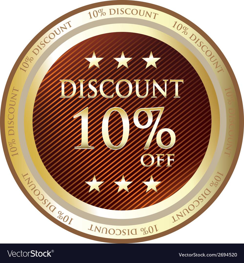 Ten Percent Discount Label