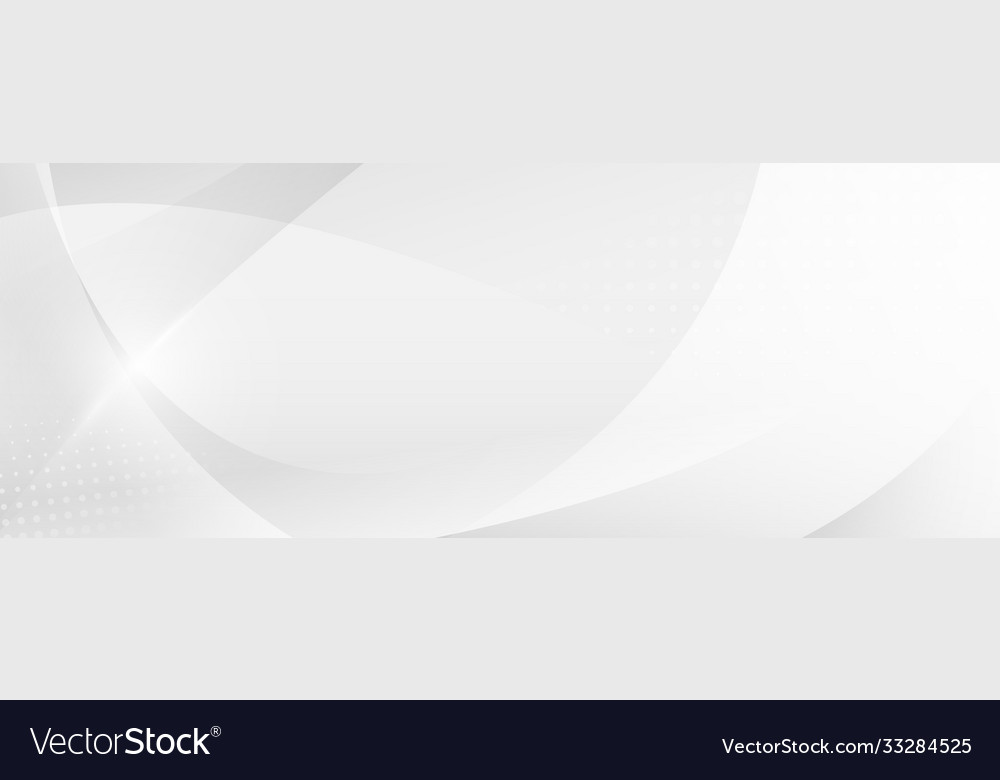 Abstract white and gray gradient curve background