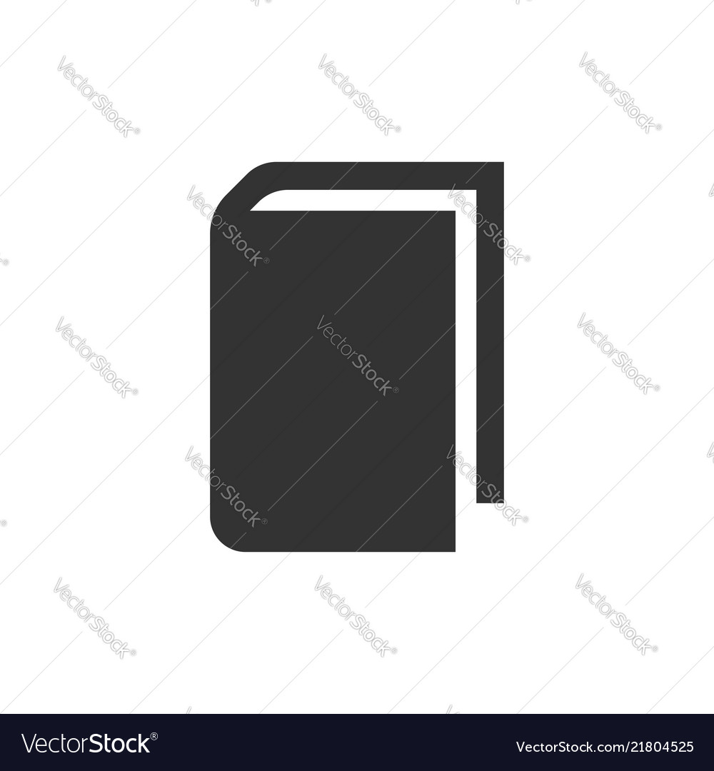 Book education icon in flat style literature