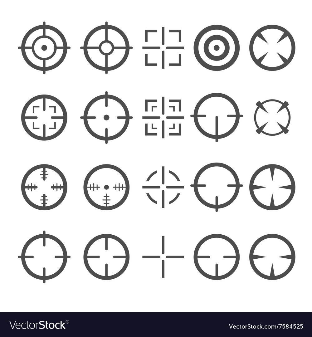 Crosshair Icon Set Target Mouse Cursor Pointers