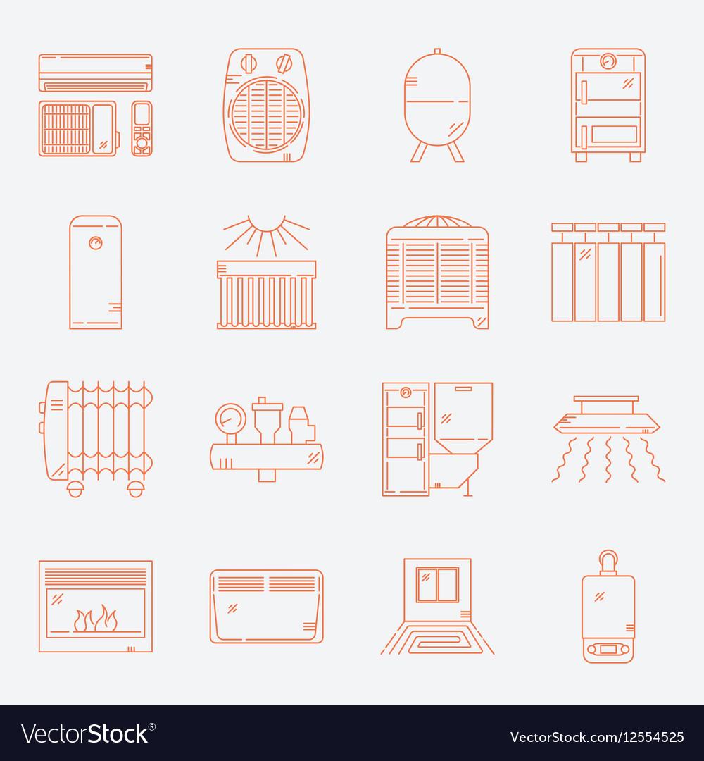 House Heating Icon Set