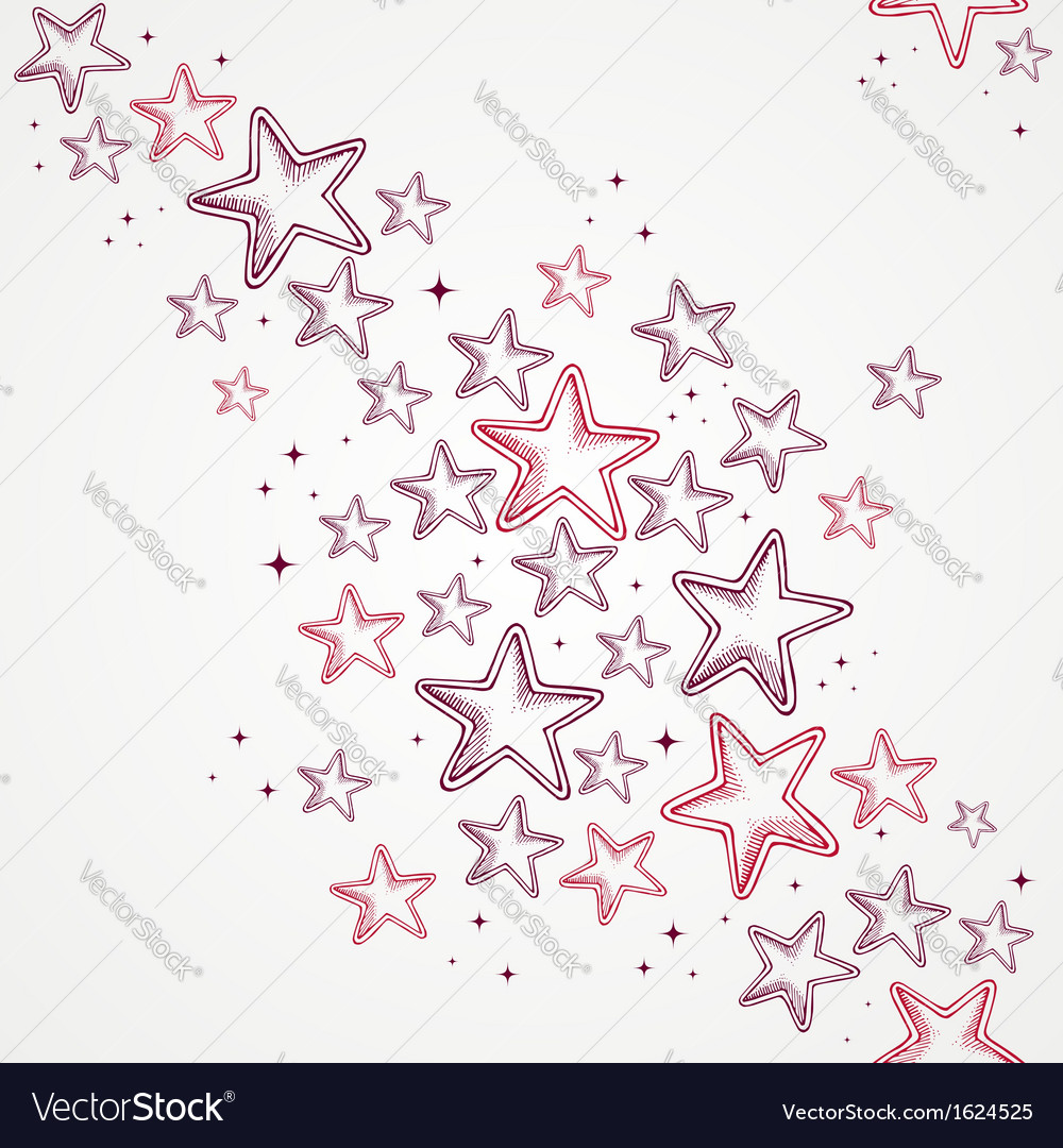 Merry Christmas star shapes seamless pattern