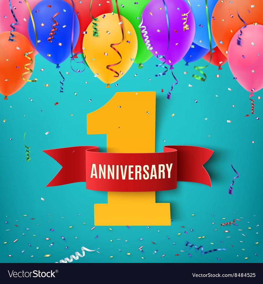 One year anniversary celebration background