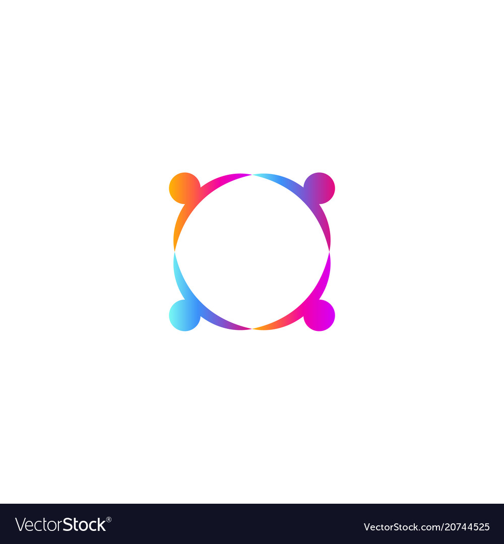 People holding hands logo template union icon