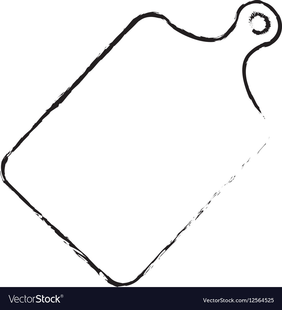Plastic Cutting Board Royalty Free Vector Image