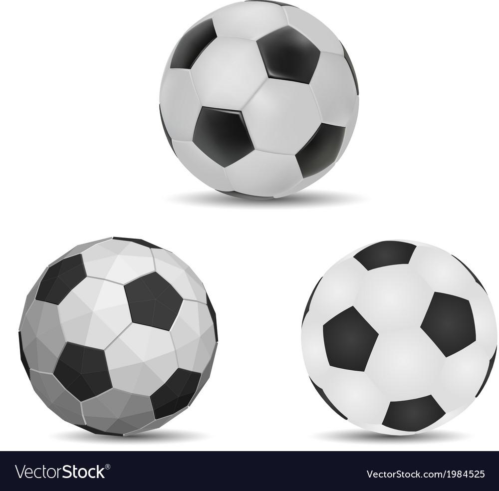 Three style ball vector image