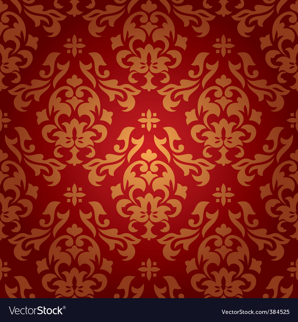 Vintage Damask Wallpaper Royalty Free Vector Image