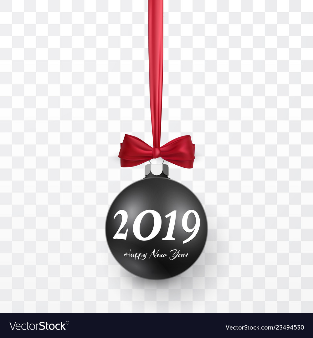 2019 christmas and new year background with black