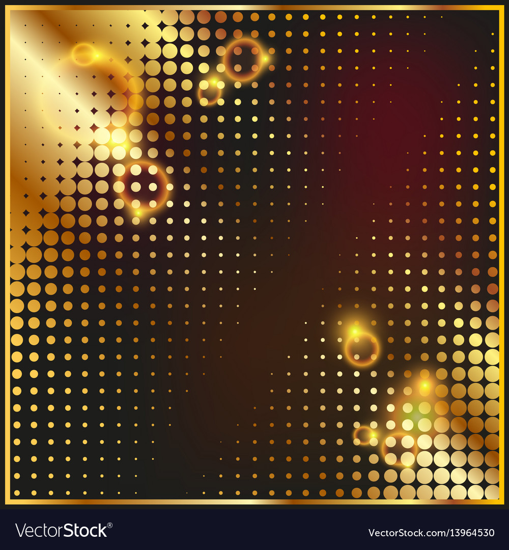 Abstract geometric graphic design gold halftone