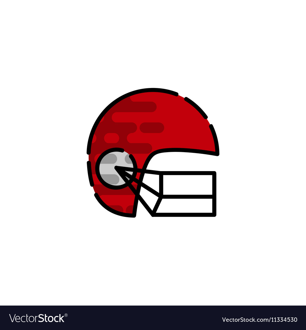 American football flat icon