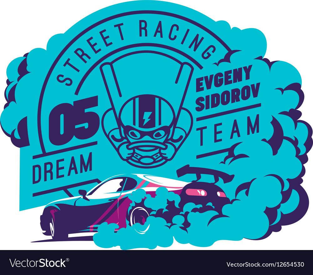 Burnout car Japanese drift sport Street racing