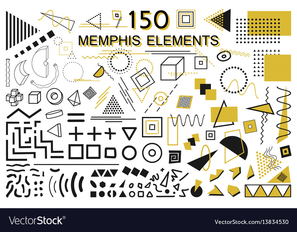 Collection Of Memphis Elements Fashion 80 90s Vector Image