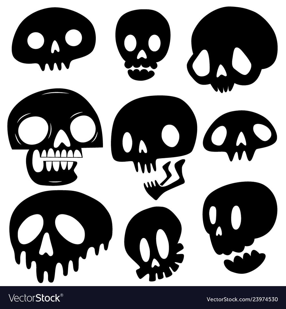 Cute skull set