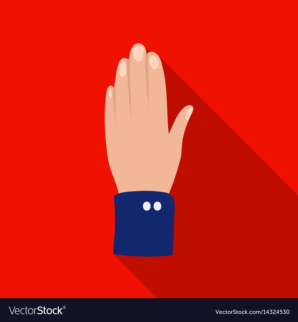 High five icon in flat style isolated on white