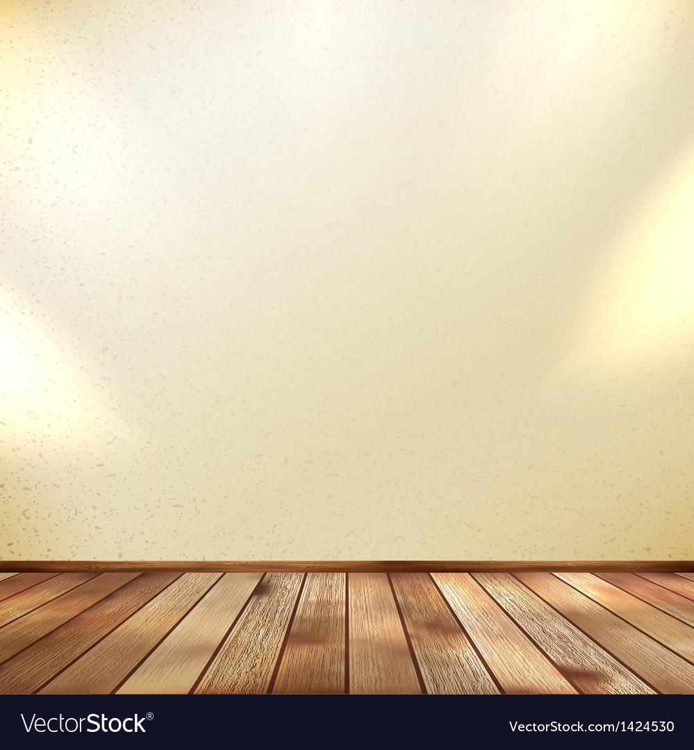 Light wooden interior EPS 10 vector image
