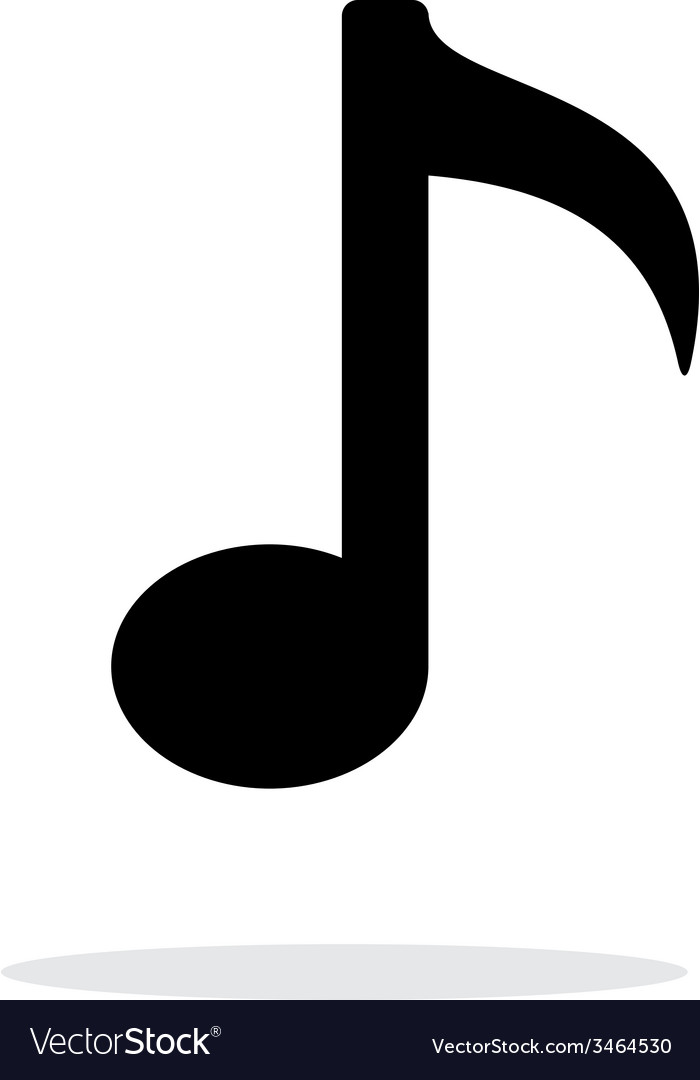 Musical note icon on white background vector image