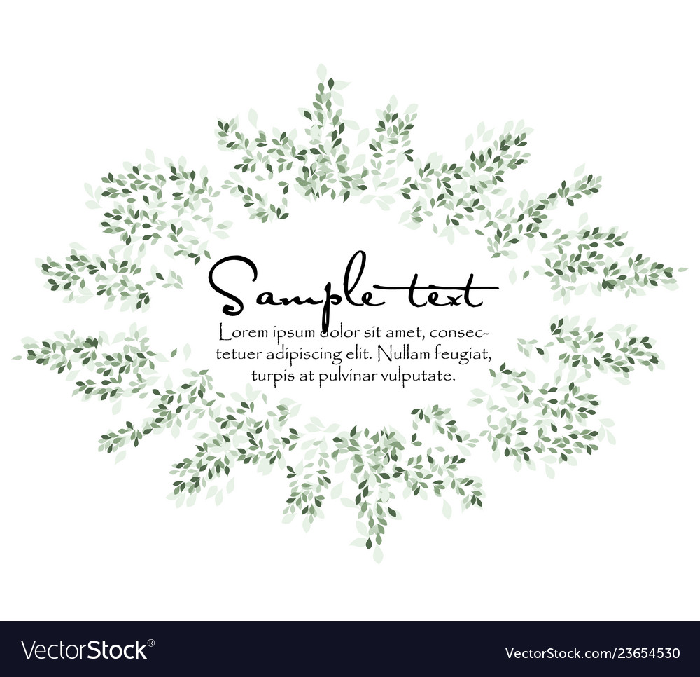 Natural background with leaves
