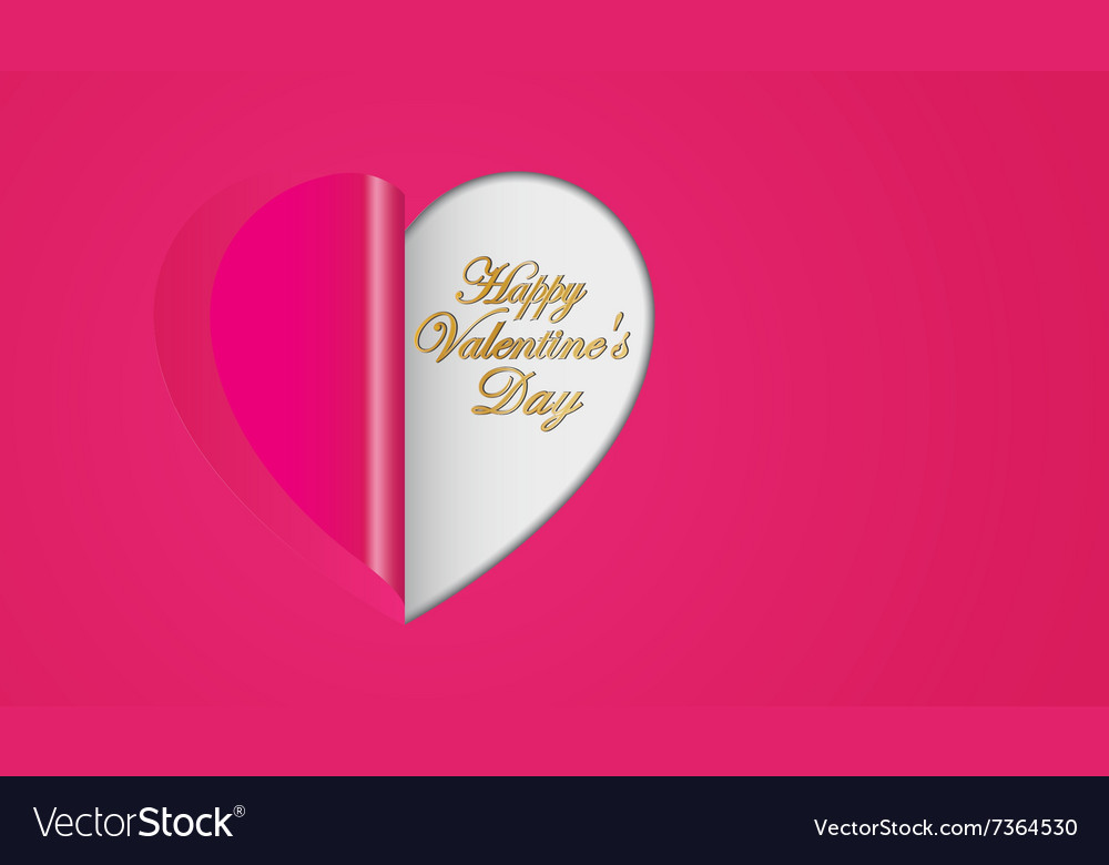 Pink paper hearts folding