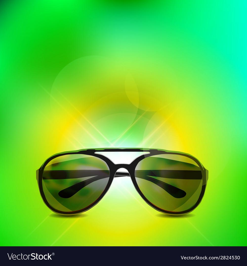 Sunglasses isolated background