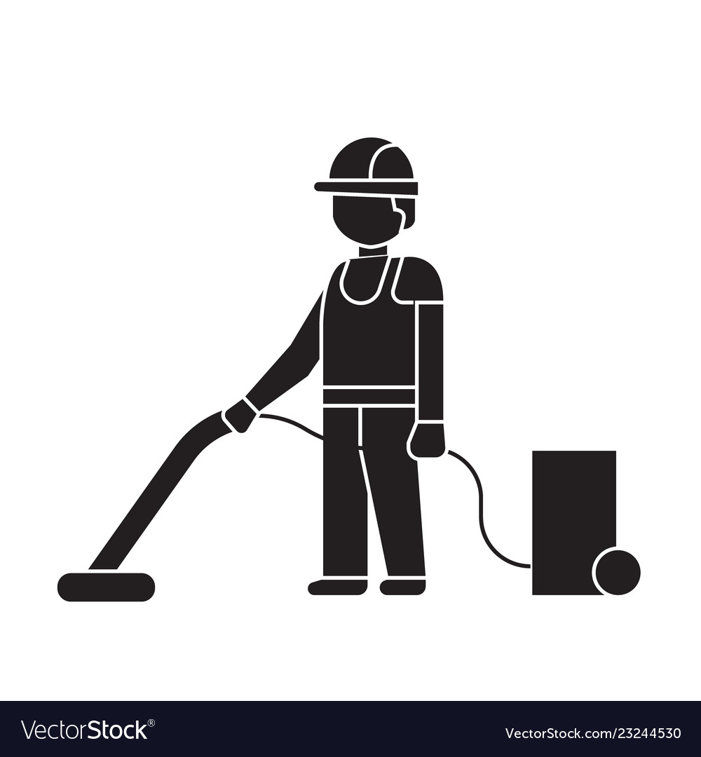 Vacuum cleaning black concept icon vacuum