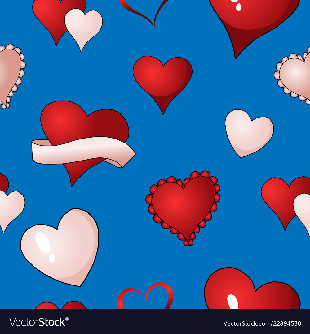 Valentines hearts seamless pattern
