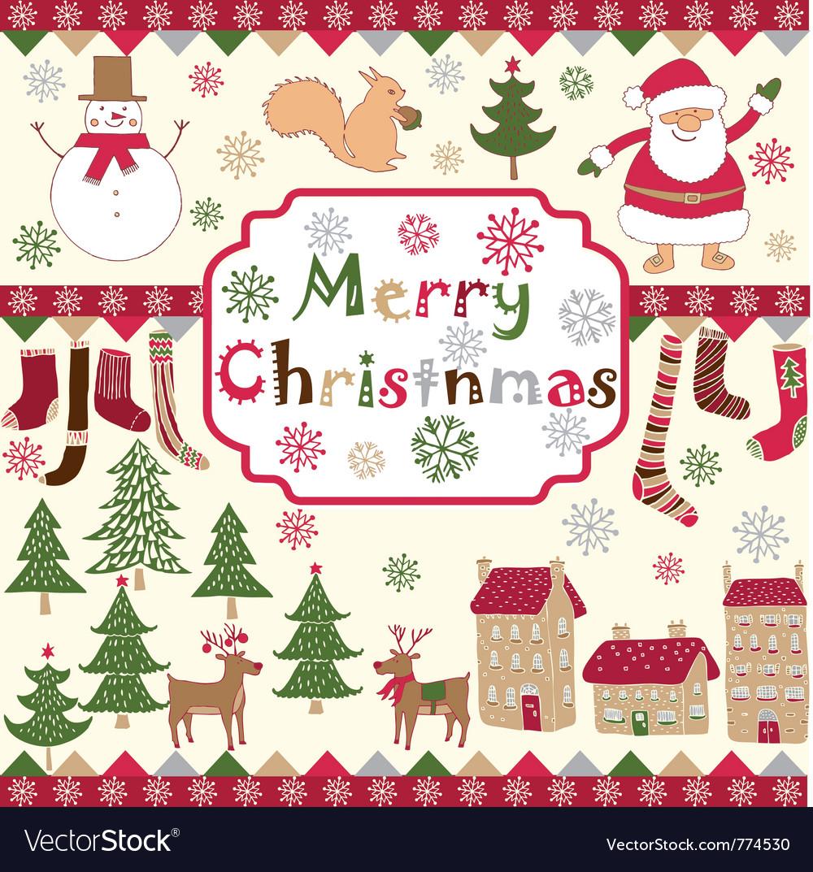 Christmas Card Drawing.Xmas Card Drawing