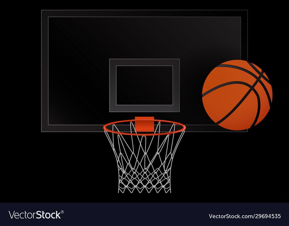 Basketball hoop and basketball ball